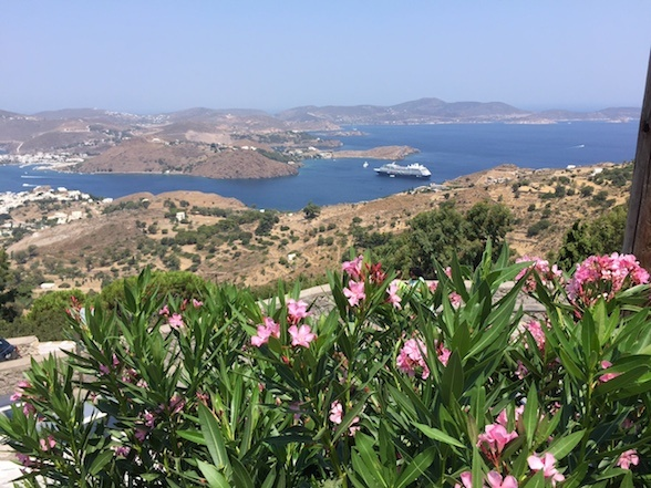 View of Azamara Journey on Patmos, Greece Photo: Heatheronhertravels.com