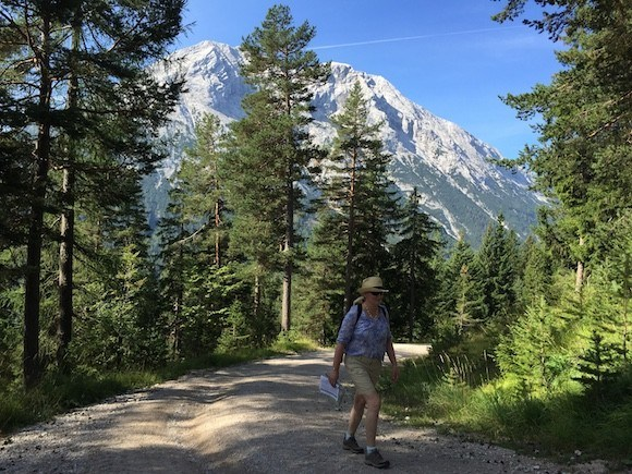 Walking through forest in the Gaistal Valley, Tirol, Austria Photo: Heatheronhertravels.com