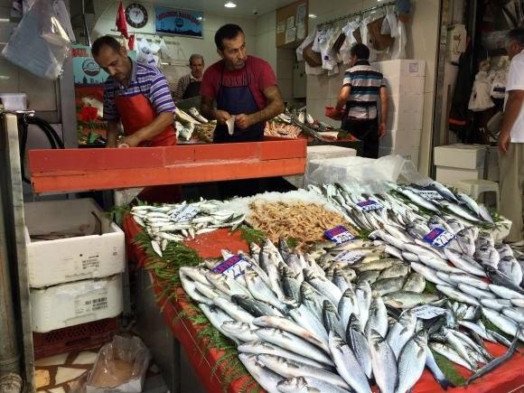 Fish on sale in the Spice Market Istanbul Photo: Heatheronhertravels.com