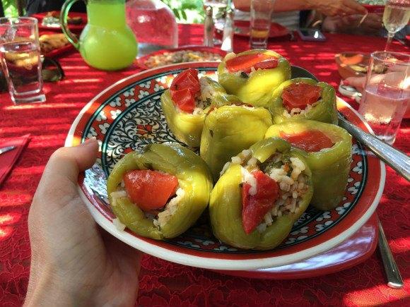 Stuffed peppers in Turkey with Azaamara Club Cruises Photo: Heatheronhertravels.com