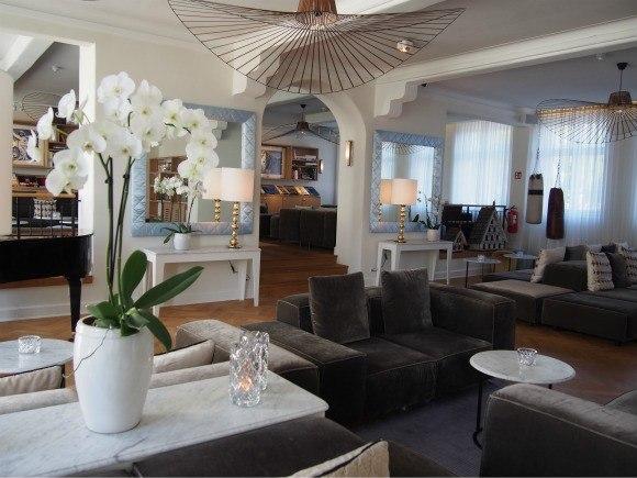 The Lobby at Kurhotel Skodsbourg in Copenhagen Photo: Heatheronhertravels.com