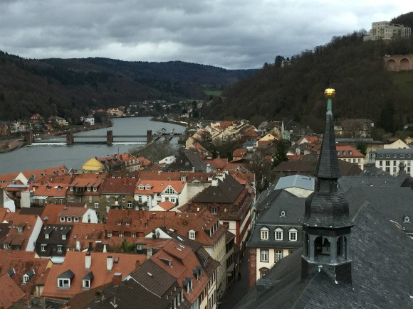 View from the church of the Holy Ghost in Heidelberg Photo: Heatheronhertravels.com