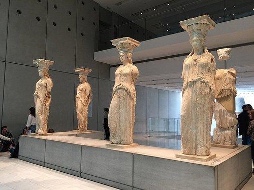 Acropolis museum Caryatids Photo: Heatheronhertravels.com