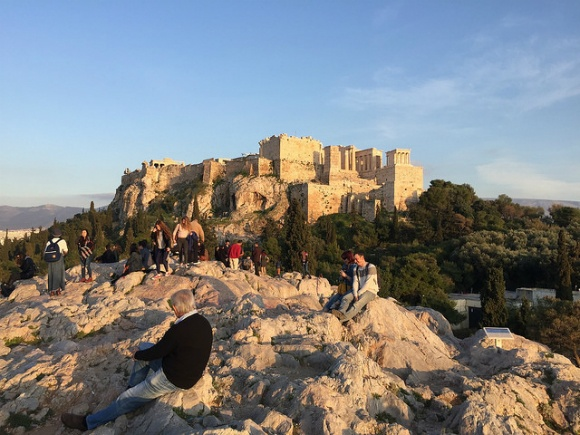 Areopagus Hill with view of the Acropolis Heatheronhertravels.com