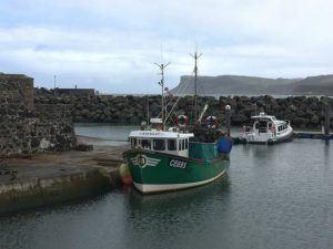 The harbour at Ballycastle Heatheronhertravels.com