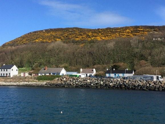 Arriving by ferry to Rathlin Island Heatheronhertravels.com