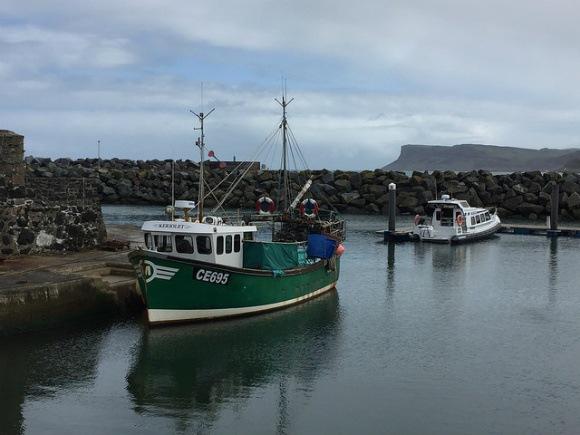 Boats in Ballycastle harbour Heatheronhertravels.com