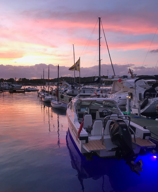 Sunset in the port of Mahon in Menorca Photo Heatheronhertravels.com
