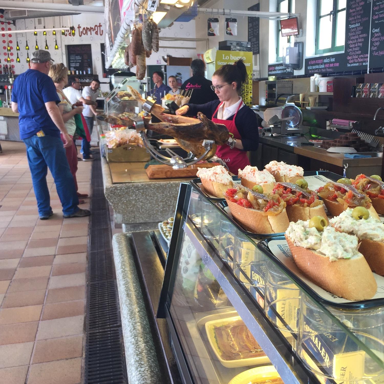 Tapas in the fish market of Mahon in Menorca