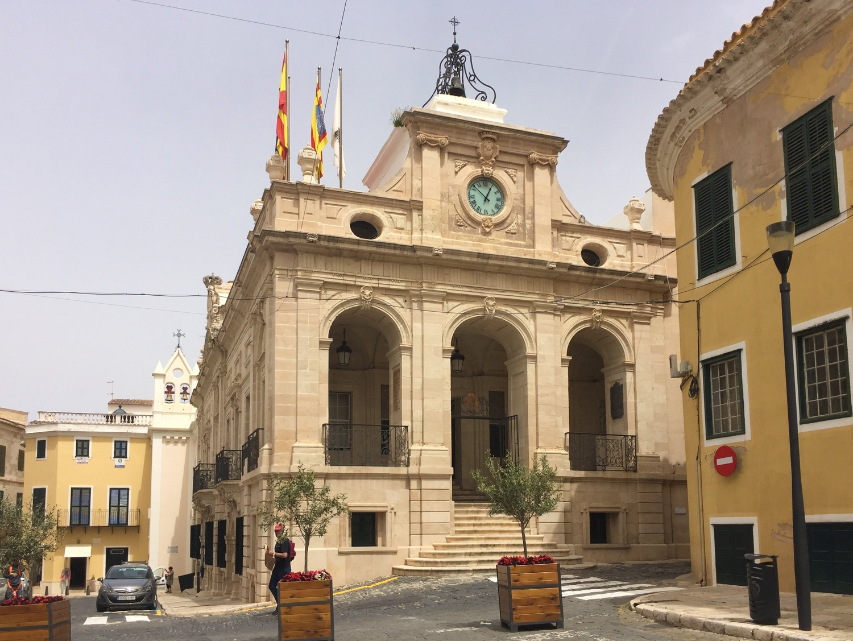 Town Hall in Mahon in Menorca Photo Heatheronhertravels.com