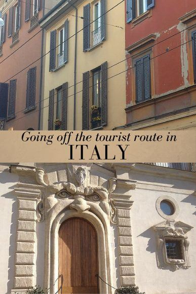 Read about going off the tourist route in Italy