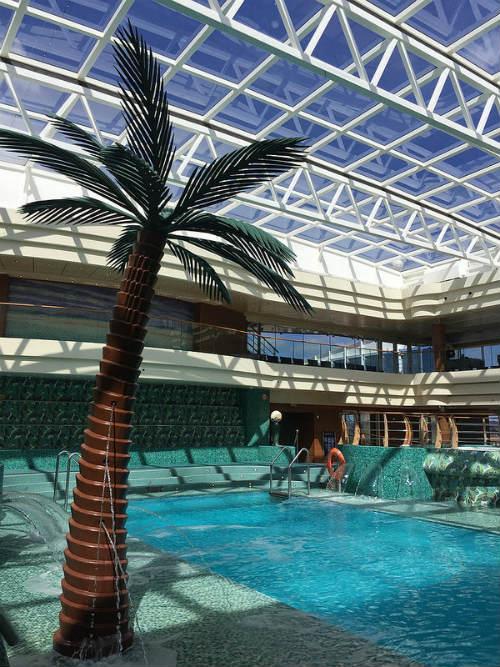 The indoor pool on board MSC Splendida Heatheronhertravels.com