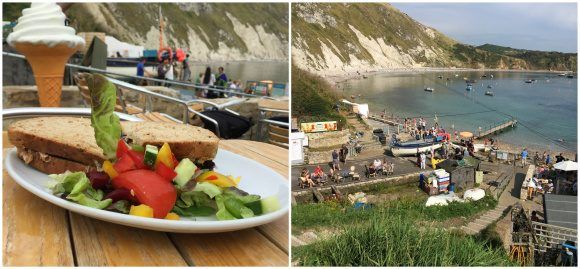 Crab sandwich at Lulworth Cove Photo: Heatheronhertravels.com