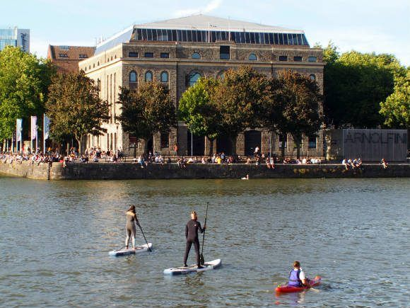 Paddle Boarders in Bristol Harbour
