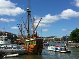 The Matthew in Bristol's harbourside