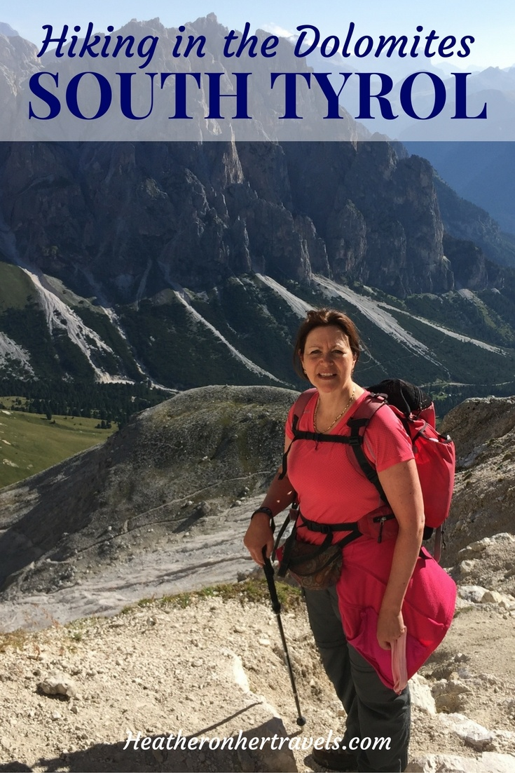 Read about hiking over the pass in the Dolomites - South Tyrol