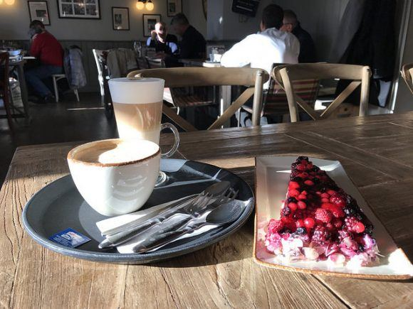 Coffee and cake at Queens Cafe in Coburg Photo: Heatheronhertravels.com