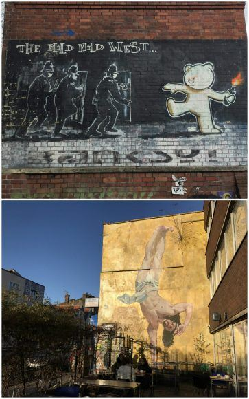 Street art murals on Stokes Croft in Bristol photo: Heatheronhertravels.com