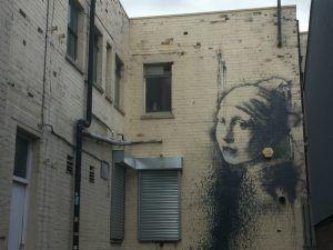 Banksy Girl with the Pierced Eardrum photo: Heatheronhertravels.com