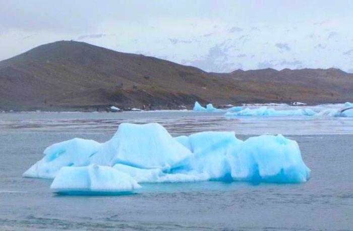 Icebergs in Jokulsarlon Glacier lagoon