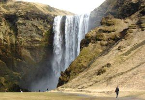Selljalandsfoss waterfall in Iceland