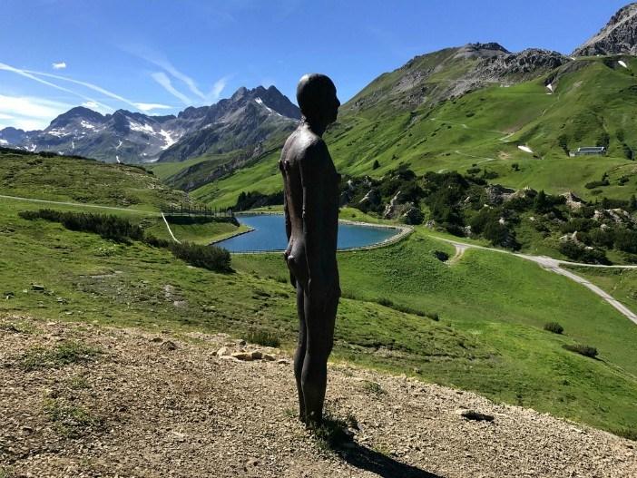 Antony Gormely Statue, Lech, Vorarlberg, Austria Photo: Heatheronhertravels.com