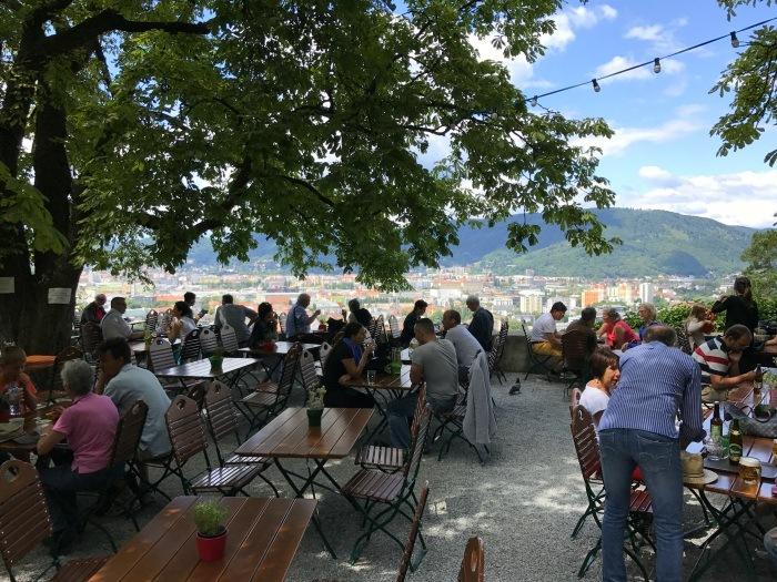 Cafe above Graz Austria Photo: Heatheronhertravels.com