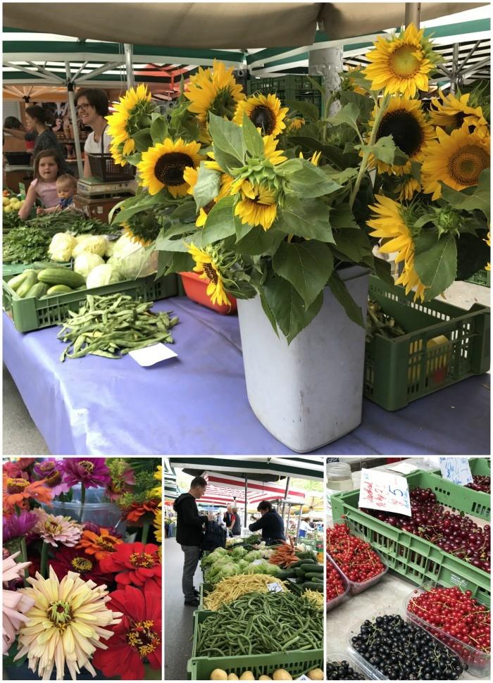 Farmers market at Kaiser Joseph Platz in Graz Photo: Heatheronhertravels.com
