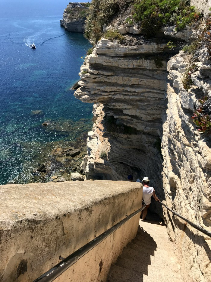 King of Aragon's steps - Bonifacio in Corsica with Voyages to Antiquity Photo: Heatheronhertravels.com
