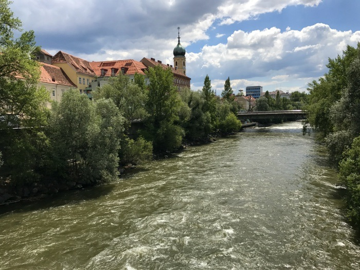 River in Graz, Austria Photo: Heatheronhertravels.com