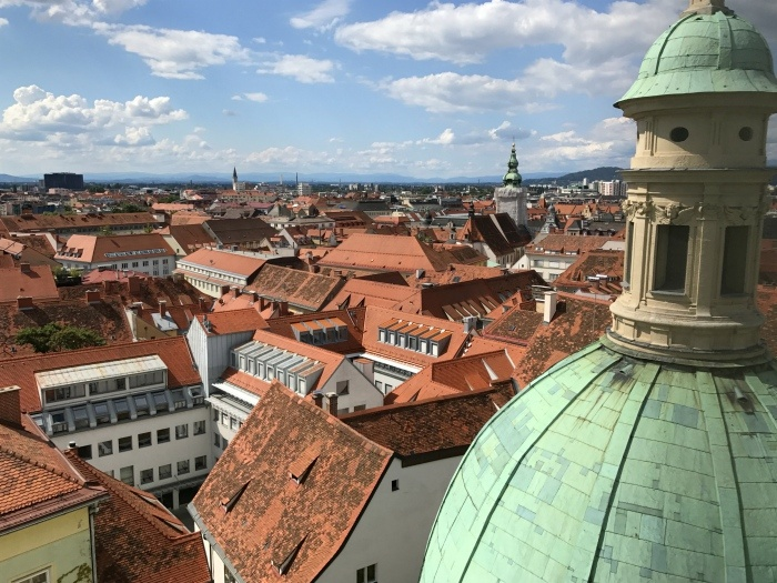 View from the Mausoleum in Graz on a weekend in Austria Photo: Heatheronhertravels.com