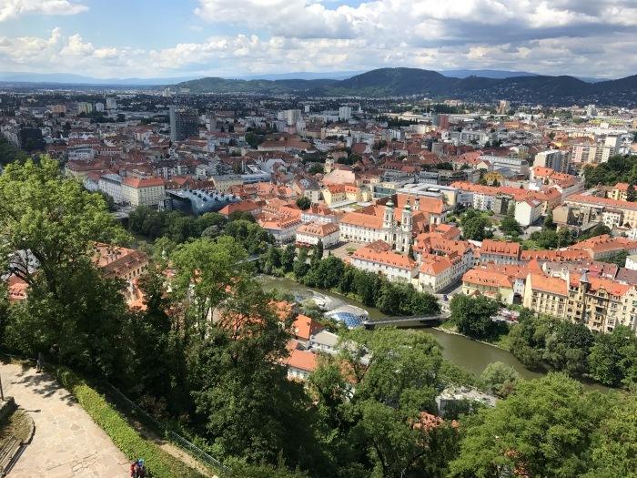 View over Graz Austria Photo: Heatheronhertravels.com
