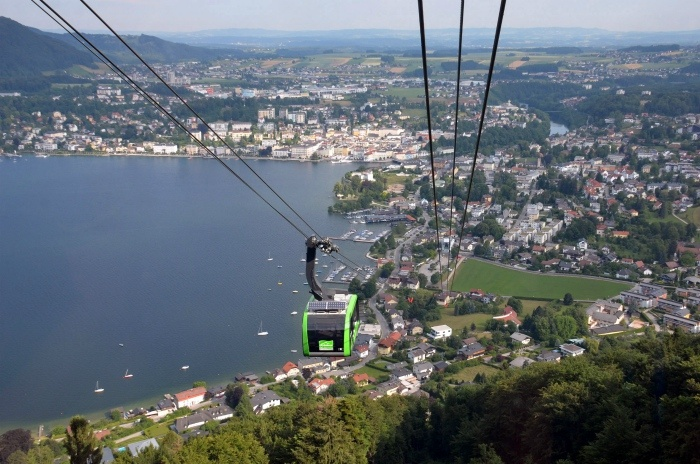 Grunberg Cable Car over Traunsee