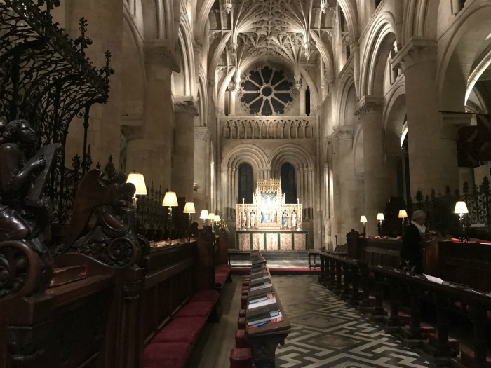 Evensong at Christ Church chapel- weekend in Oxford