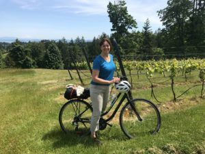 Cycling to the wineries around Victoria Canada photo: Heatheronhertravels.com