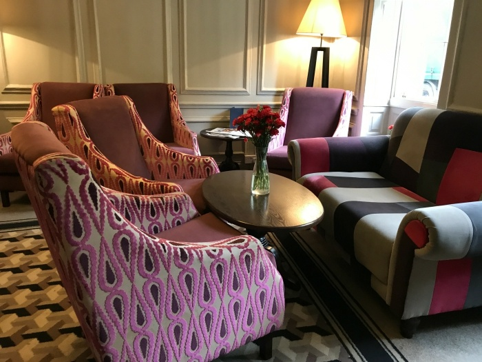 Sitting area in Vanbrugh House Hotel in Oxford