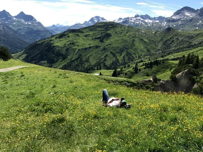 Mountains in Vorarlberg in Austria