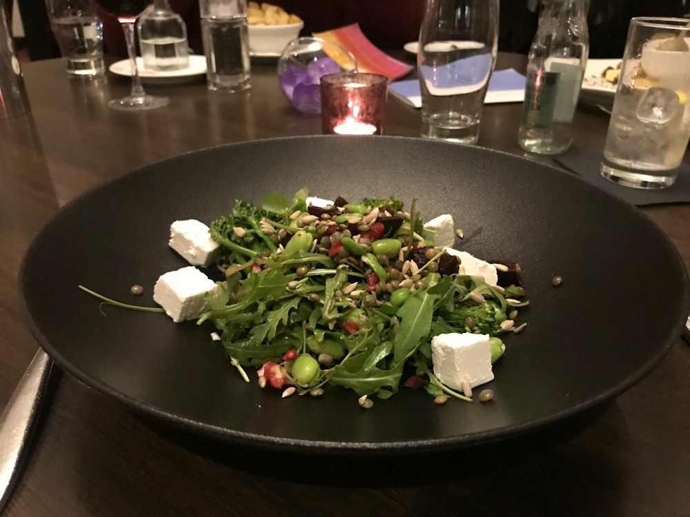 Beetroot and feta salad in the Croke Park Hotel in Dublin