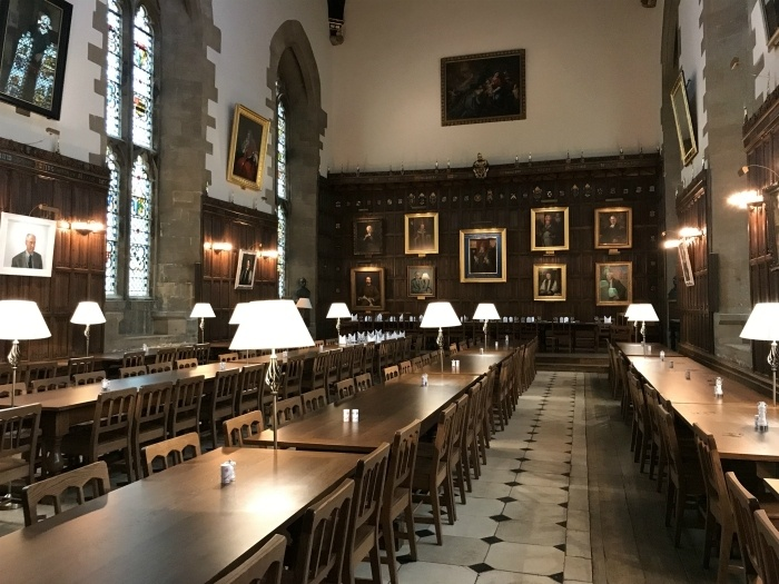 Oxford Itinerary - Dining Hall at New College Oxford photo Heatheronhertravels.com
