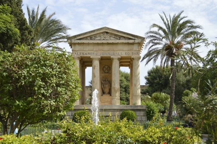 one day in Malta - Lower Barrakka Gardens in Malta