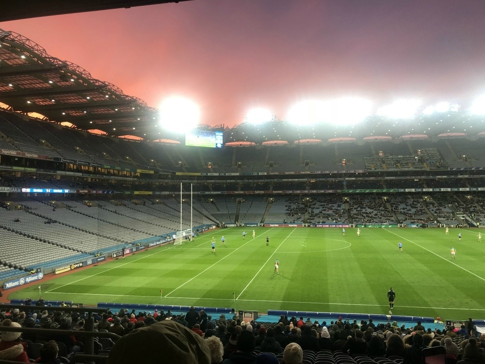 Hurling match at Croke Park Dublin