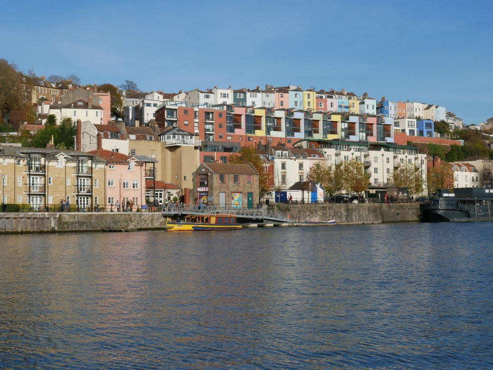 Coloured houses in Bristol