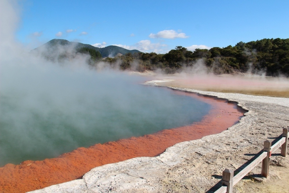 Hot springs in Rotorua New Zealand