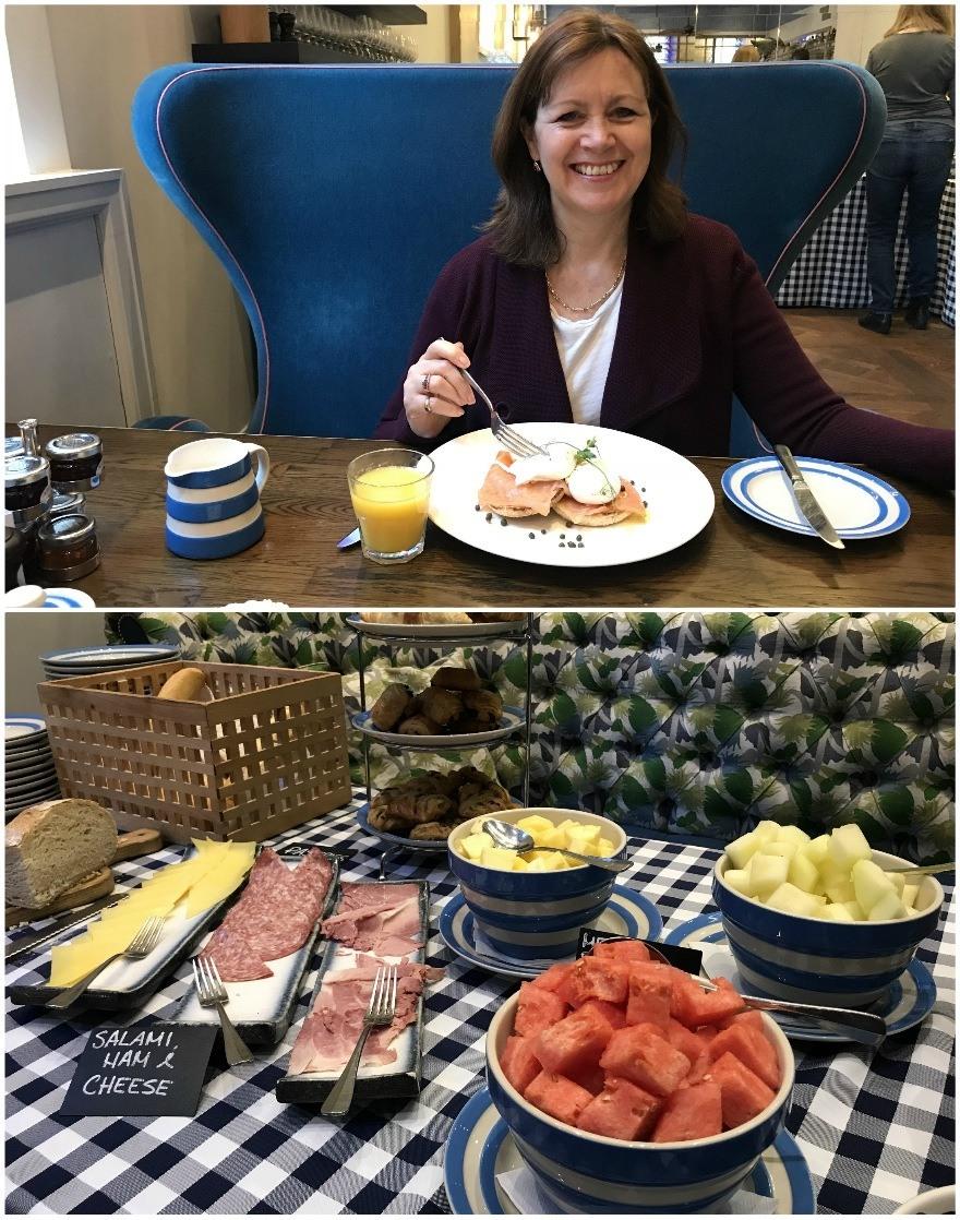 Breakfast at Harbour Hotel Bristol Heatheronhertravels.com