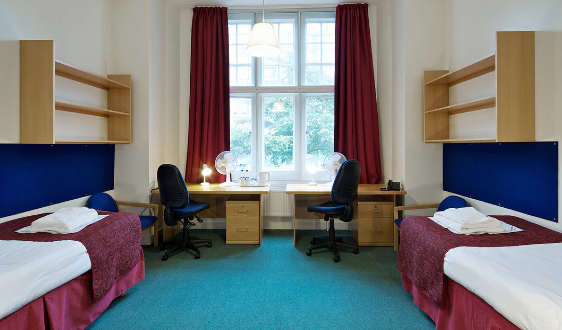 Summer accommodation in London - twin bed room at Beit Hall