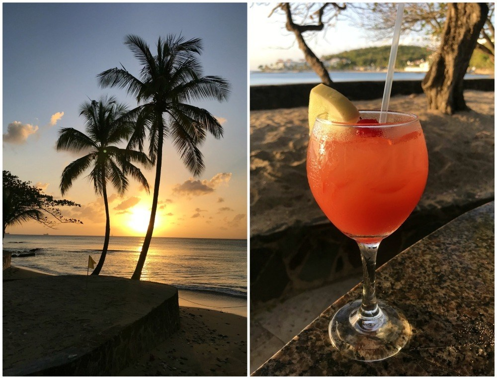 Cocktails at Sunset on St Lucia Photo Heatheronhertravels.com