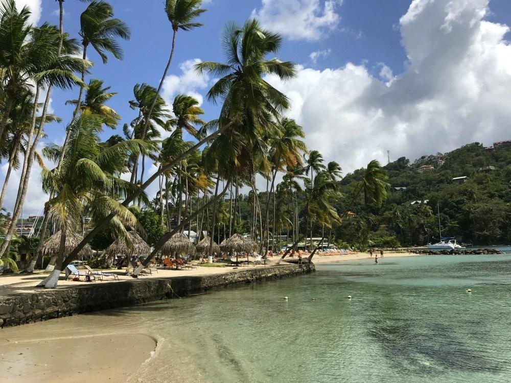 Marigot Bay beach on St Lucia Photo Heatheronhertravels.com