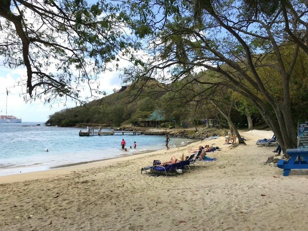Pigeon Island beach on St Lucia Photo Heatheronhertravels.com