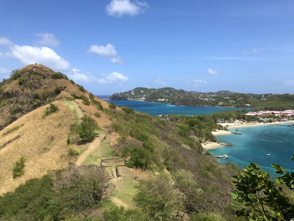Pigeon island in St Lucia photo Heatheronhertravels.com