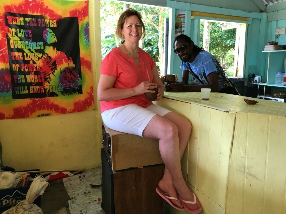 Roots Beach Bar at Marigot Bay St Lucia - Things to do in St Lucia Photo Heatheronhertravels.com